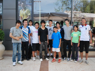 With Djokovic young brother